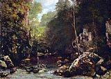 Gustave Courbet The Shaded Stream painting