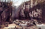 Gustave Courbet The Stream of the Puits-Noir at Ornans painting
