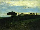 Gustave Courbet Wall Art - View of La Tour de Farges