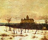 Gustave Courbet Wall Art - View of Neuenburger