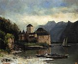 Gustave Courbet Wall Art - View of the Chateau de Chillon
