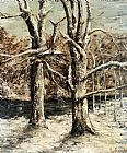 Gustave Courbet Wall Art - Woods in the Snow
