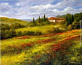 Heinz Scholnhammer - Landscape with Poppies I
