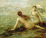 Bathers Canvas Paintings - Bathers by the Sea
