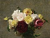 Bouquet Canvas Paintings - Bouquet of Roses I