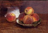 pea Canvas Paintings - Bowl of Peaches