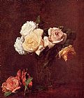 Vase Canvas Paintings - Roses in a Vase