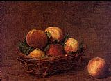 pea Canvas Paintings - Still Life with Peaches