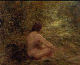 Henri Fantin-latour Wall Art - The Bather