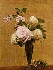 bal Canvas Paintings - Vase of Peonies and Snowballs