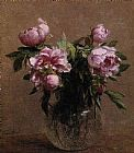Henri Fantin-latour Famous Paintings - Vase of Peonies