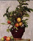 Famous Vase Paintings - Vase with Apples and Foliage