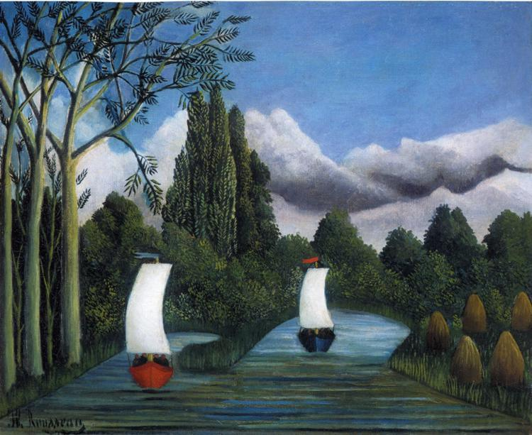 Henri Rousseau Banks of the Oise