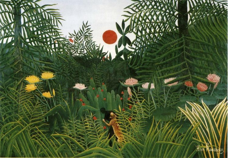 Henri Rousseau Negro Attacked by a Jaguar