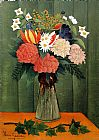 Famous Bouquet Paintings - Bouquet of Flowers with an Ivy Branch