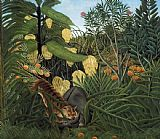 Henri Rousseau - Fight Between a Tiger and a Buffalo