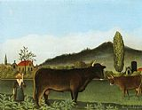 Henri Rousseau - Landscape with Cattle