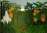 Henri Rousseau The Repast of the Lion painting