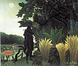 Henri Rousseau The Snake Charmer painting
