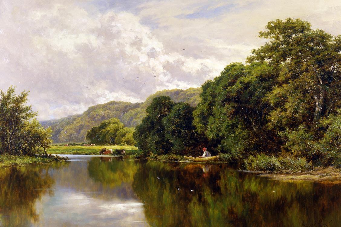 Henry H. Parker Nature's Mirror, on the Banks of the Thames ...