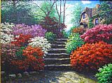 Henry Peeters Fairfield Steps painting