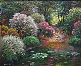 Henry Peeters Garden Pond painting