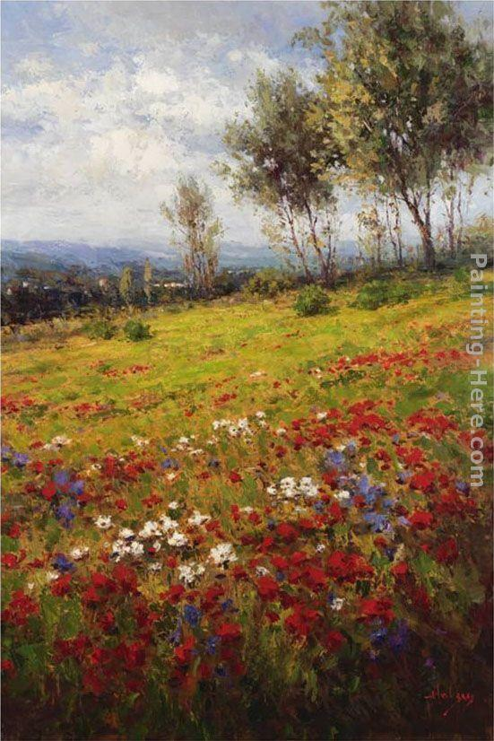 Hulsey Wildflowers Painting Framed Paintings For Sale