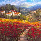 Hulsey Canvas Paintings - Fleur du Pays I