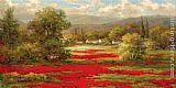 Hulsey Poppy Village painting