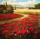 Hulsey Red Poppy Trail painting