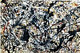 Jackson Pollock Silver On Black painting