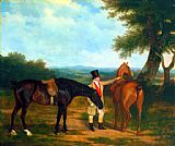 Jacques Laurent Agasse - Two Hunters with a Groom