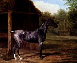 Jacques Laurent Agasse - lord Rivers' Roan mare In A Landscape