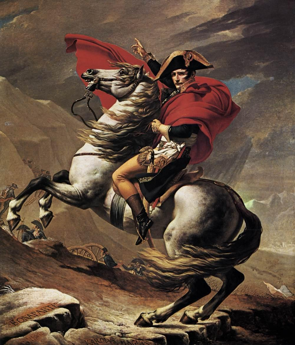 Jacques-Louis David Napoleon crossing the Alps