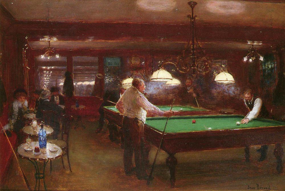 Jean Beraud A Game Of Billiards