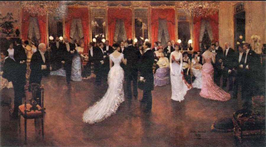 Jean Beraud An Evening Soiree