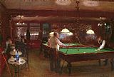 Jean Beraud A Game of Billiards painting