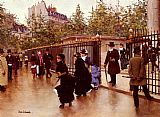 Jean Beraud - Leaving La Madeleine Paris