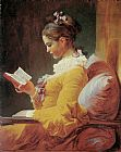 Famous Reading Paintings - Young Girl Reading