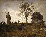 Jean Francois Millet - Autumn landscape with a flock of Turkeys