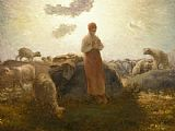 Jean Francois Millet Keeper of the Herd painting