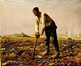 Famous Man Paintings - Man with a hoe
