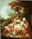 Jean-Honore Fragonard La Coquette Fixee painting