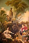 Jean-Honore Fragonard the progress of love painting