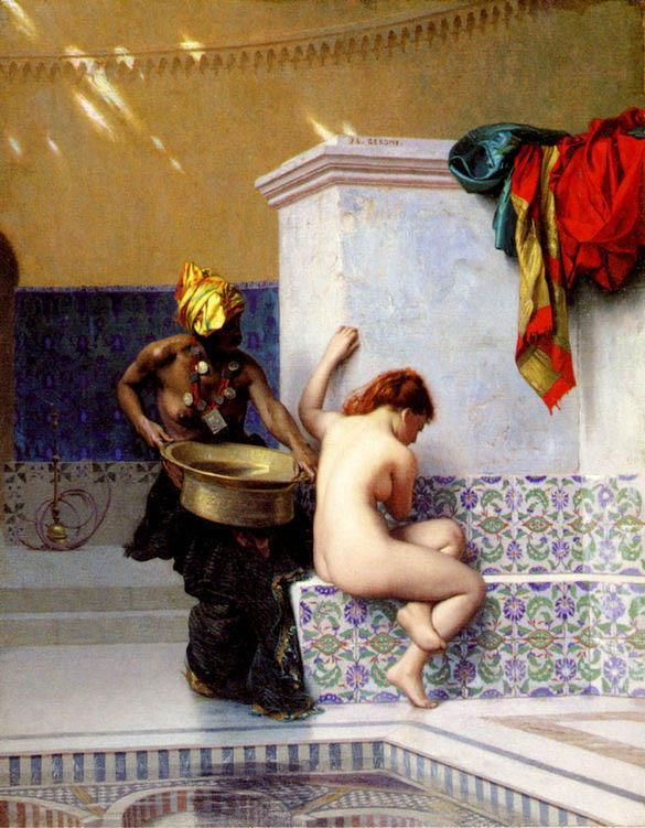 Jean-Leon Gerome Turkish Bath or Moorish Bath Painting