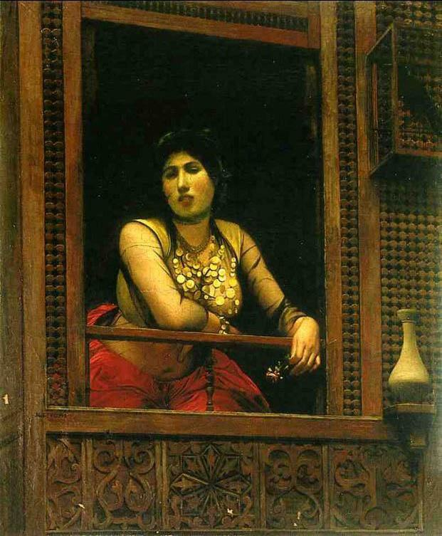 Jean-Leon Gerome Woman at Her Window
