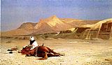 Horse Wall Art - An Arab and His Horse in the Desert