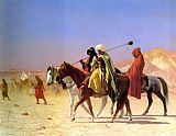 Jean-leon Gerome Canvas Paintings - Arabs Crossing the Desert