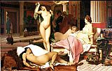 Famous Interior Paintings - Grecian Interior, Le Gynecee