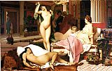 Jean-leon Gerome Canvas Paintings - Greek Interior
